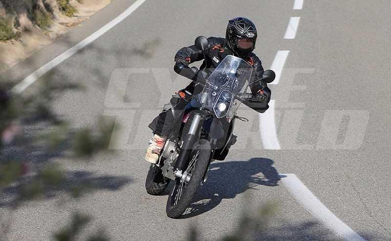 KTM 390 Adventure spied front