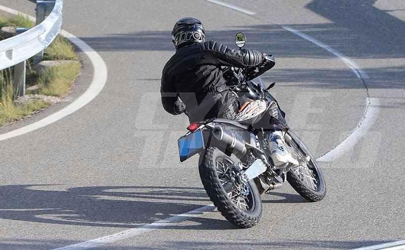 KTM 390 Adventure spied rear