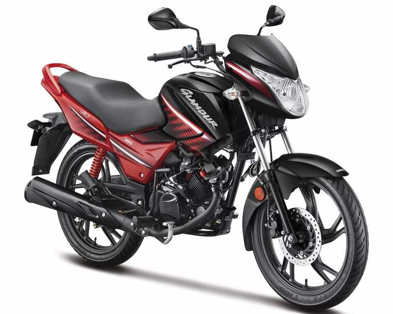 2017 Hero Glamour 125 cc in red and black