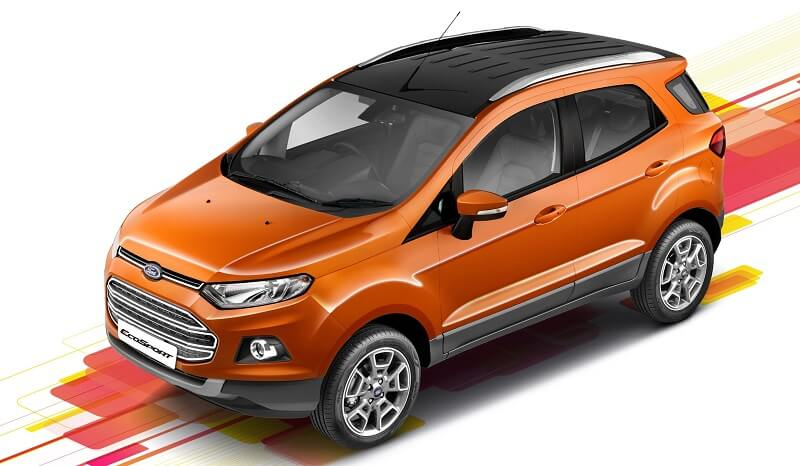 Ford EcoSport Platinum Edition roof