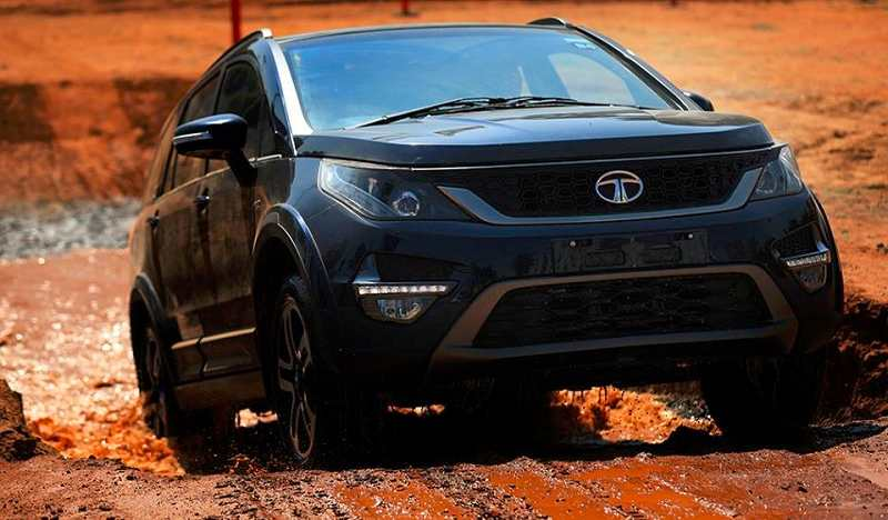 Tata Hexa off roading
