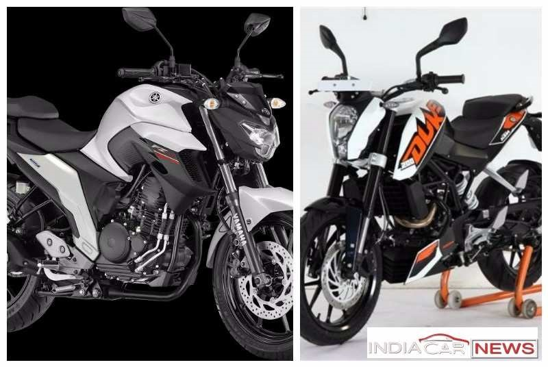 Yamaha FZ 25 Vs KTM Duke 200