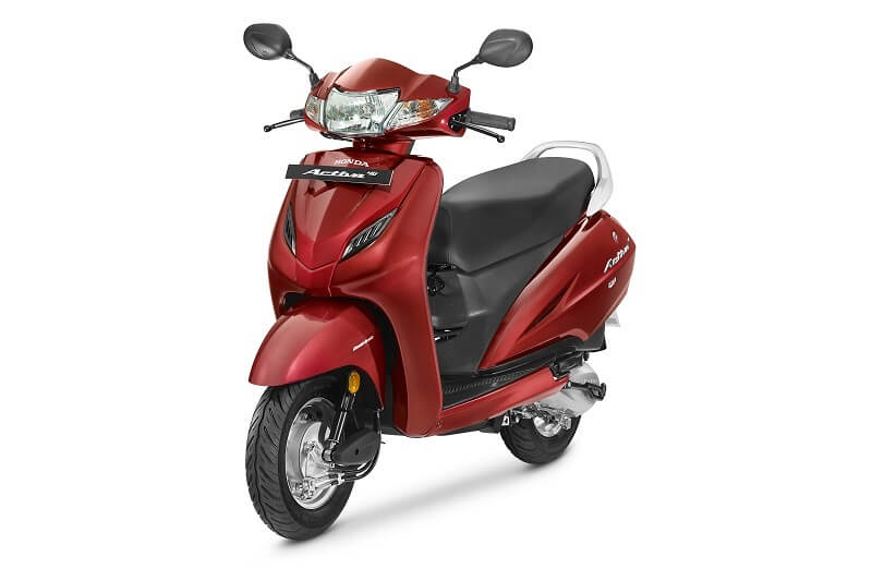2017 Honda Activa 4G in red colour