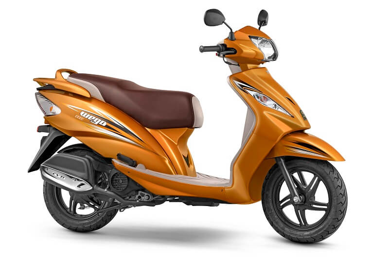2017 TVS Wego in Metallic Orange