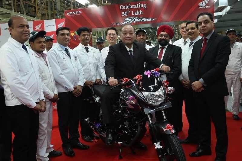 Honda CB Shine Sales Milestone