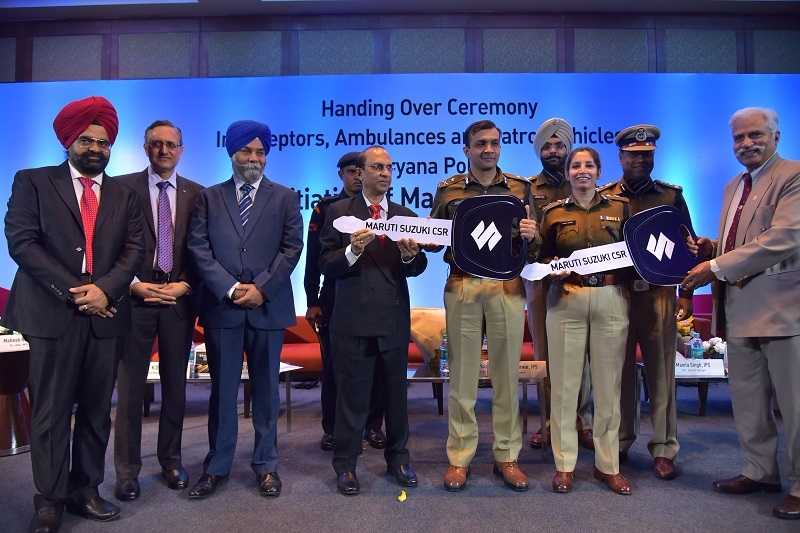 Maruti Presents Cars To Haryana Police