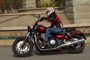 Sonia rides Triumph Storm