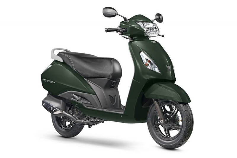 2017 TVS Jupiter Jade Green