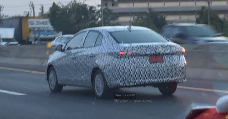 2017 Toyota Vios rear spied