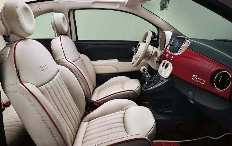 Fiat 500 60th Edition interior