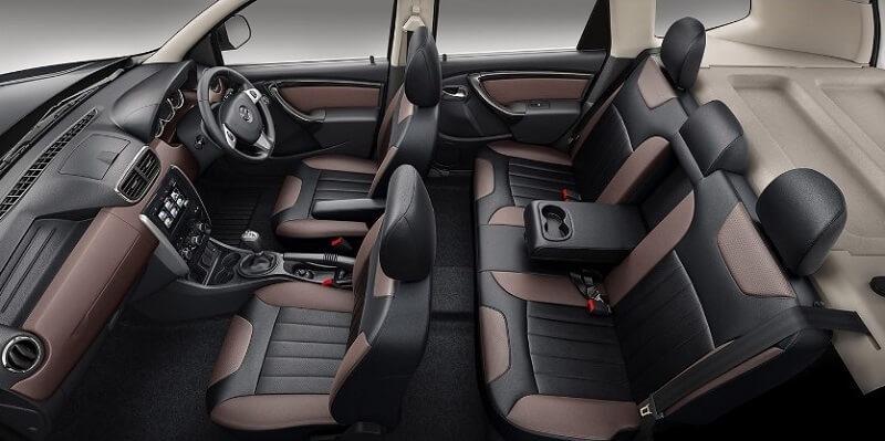New 2017 Nissan Terrano seats