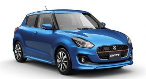 New 2018 Maruti Swift in blue front