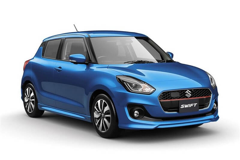 New 2018 Maruti Swift in blue front - Maruti Cars At Auto Expo 2018