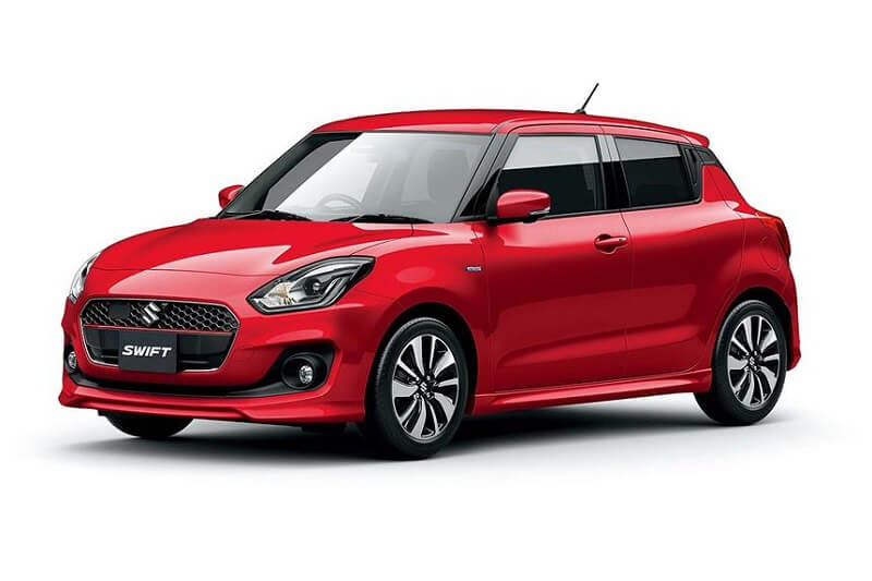 New 2018 Maruti Swift in red front