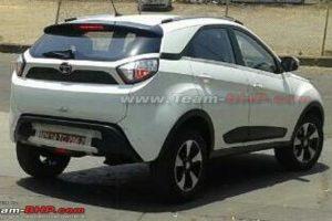Tata Nexon Top-end Model Spied Rear