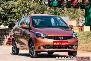 Tata Tigor orange colour