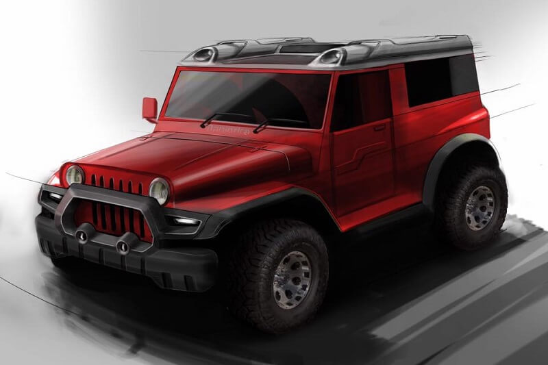 DC Design modified Mahindra Thar 1