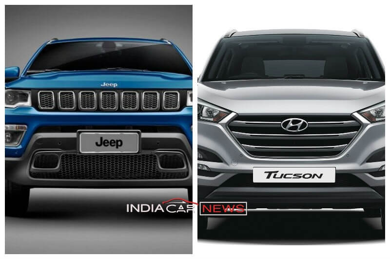 jeep compass vs hyundai tucson price specs features. Black Bedroom Furniture Sets. Home Design Ideas