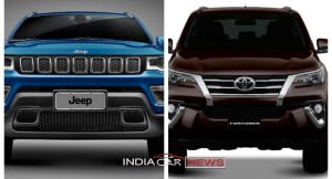 Jeep Compass Vs Toyota Fortuner
