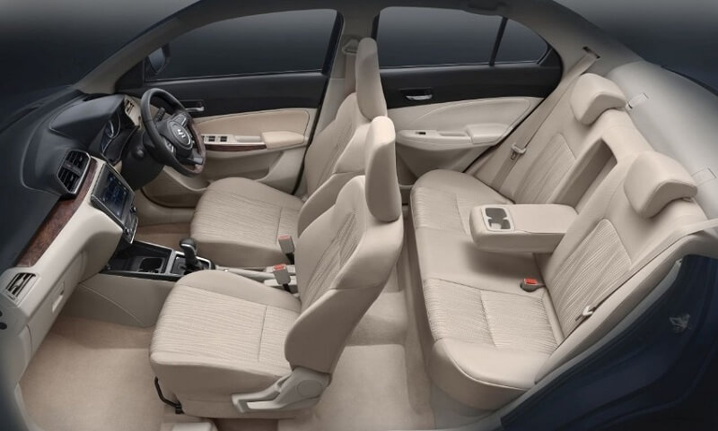 New Maruti Dzire 2017 Seats