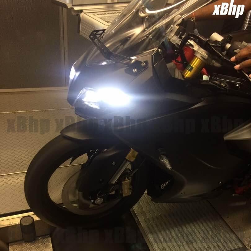 TVS Akula 310 Spied Headlamps