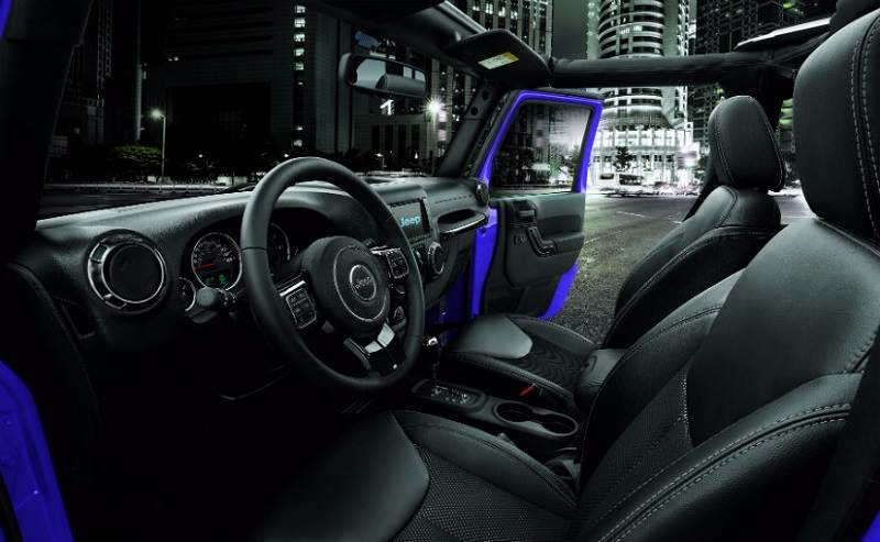 Jeep Wrangler Night Eagle Edition interior