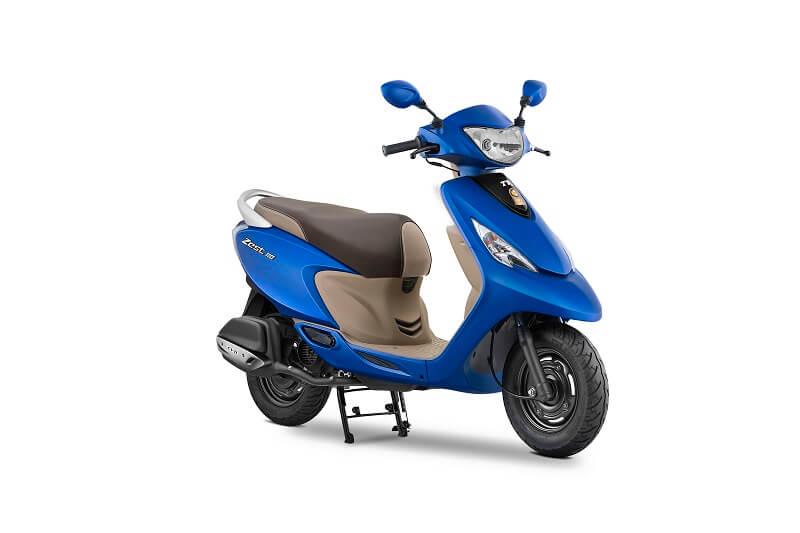 2017 TVS Scooty Zest Matte Blue