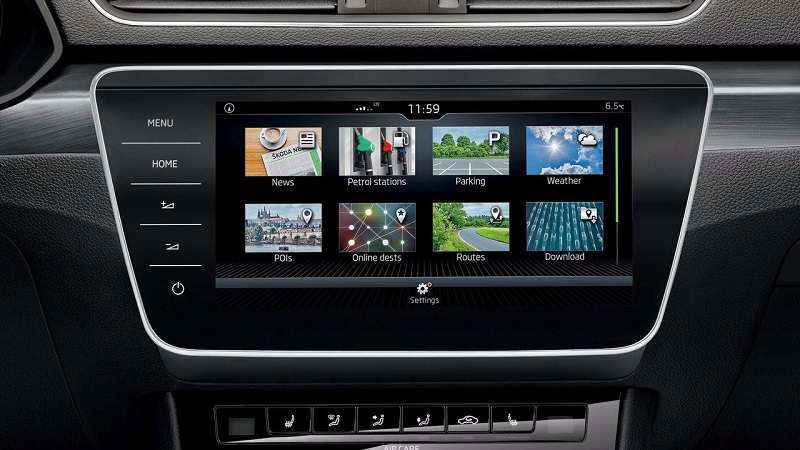 New Skoda Superb 2018 India infotainment system