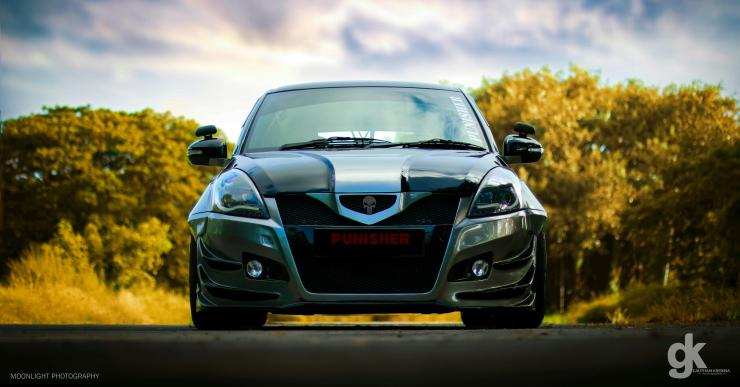 Maruti Swift Punisher headlamps & grille