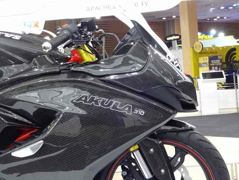 TVS Apache RR 310S front side