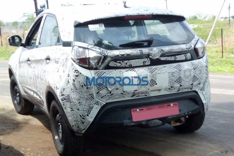 Tata Nexon base variant rear spied