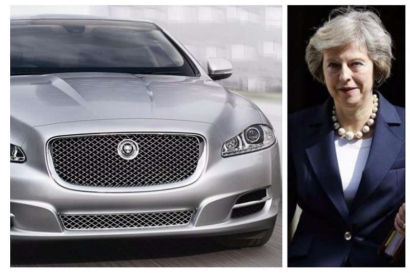 Theresa May Jaguar XJ Sentinel