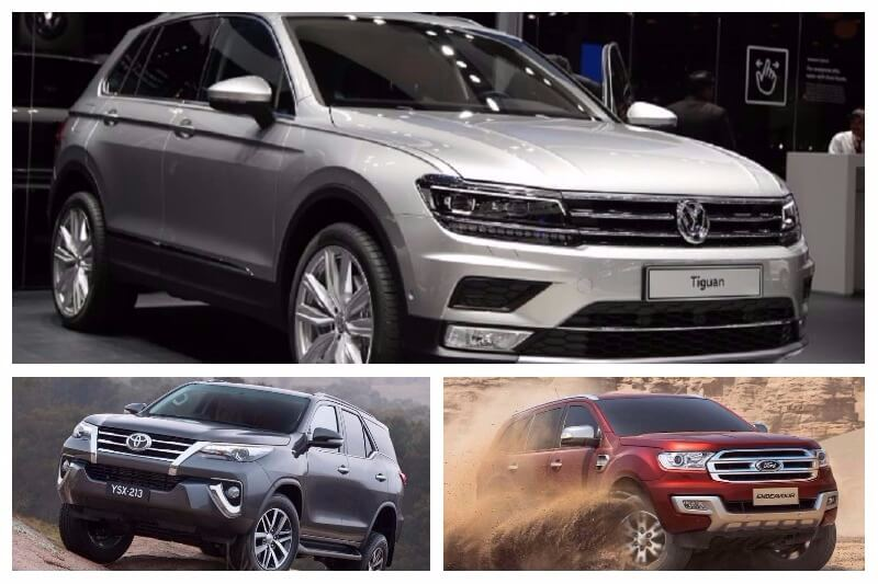 VW Tiguan Vs Fortuner Vs Endeavour