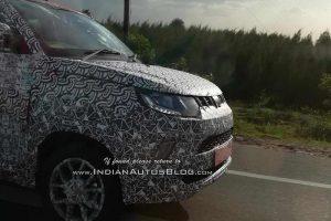 2018 Mahindra KUV100 facelift Spied