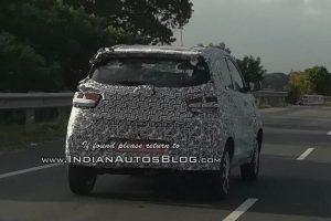 2018 Mahindra KUV100 facelift Spied rear