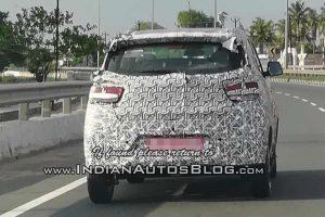 2018 Mahindra KUV100 facelift Spied tail