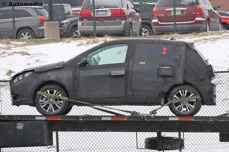 New Fiat Punto 2018 Spied Side