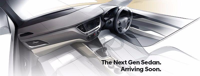 New Hyundai Verna Interior Sketch