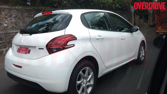 Peugeot 208 India spied rear