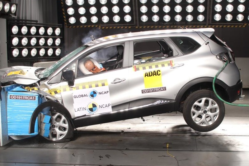 Renault Captur Latin NCAP crash test