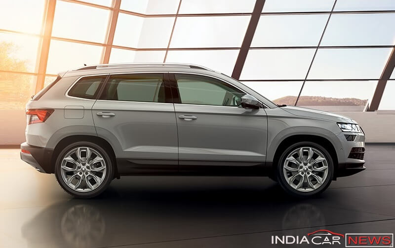Skoda Karoq Compact SUV India side profile