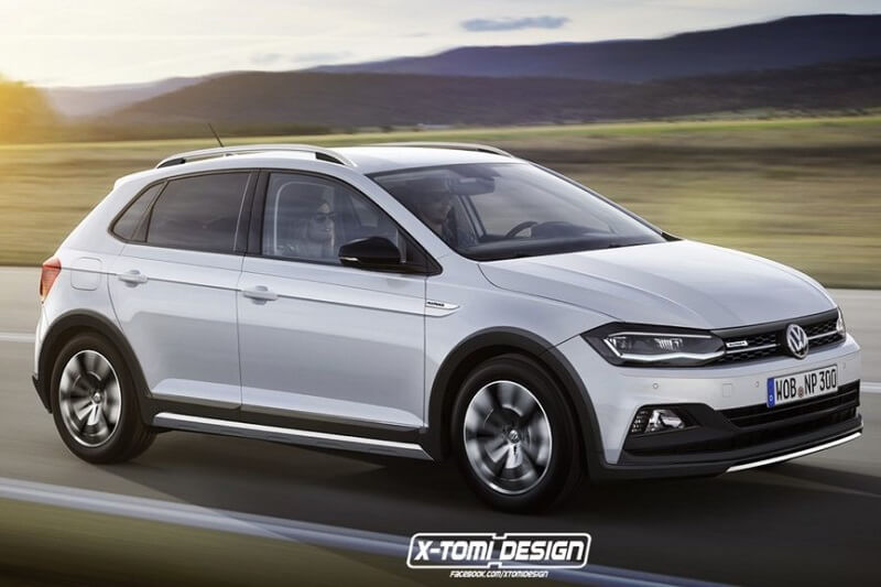 volkswagen cross polo 2018 rendered pictures details. Black Bedroom Furniture Sets. Home Design Ideas
