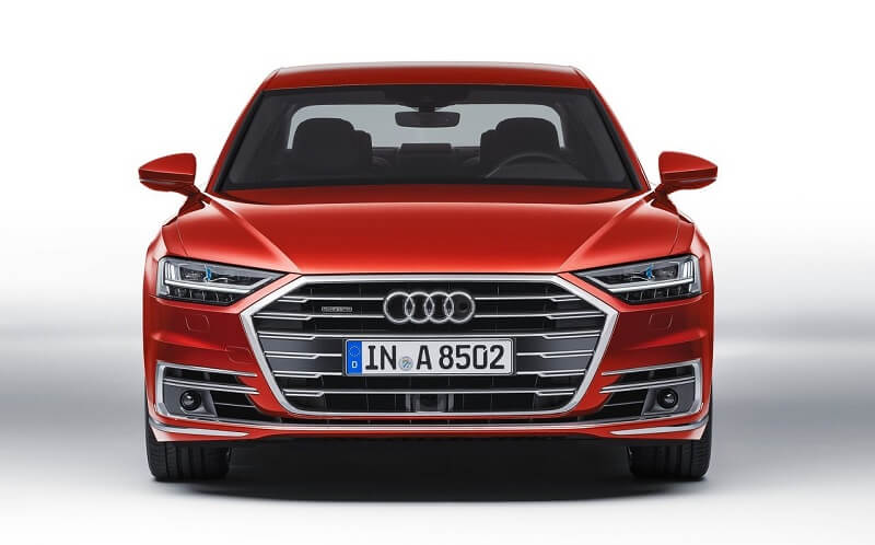 2018 Audi A8 India front end