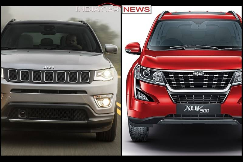 2018 Mahindra Xuv500 Vs Jeep Compass Price Specs Features