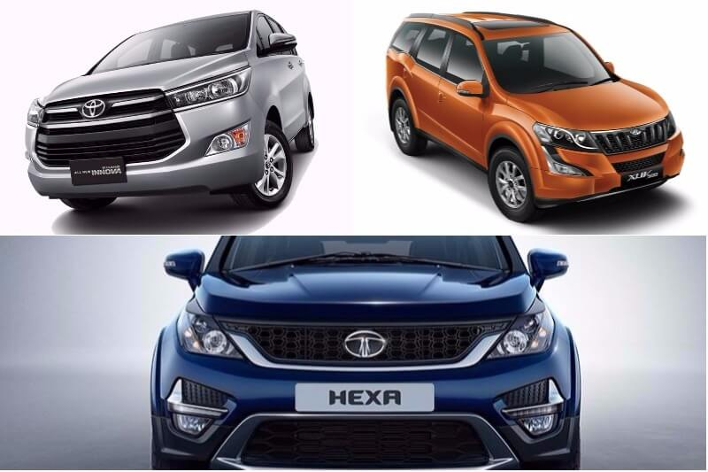 Top 5 SUVs, MPVs for large families in India