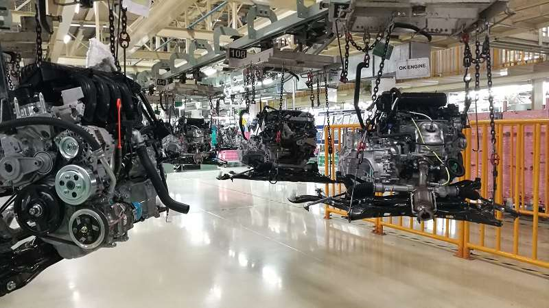 Honda Plant Visit engines