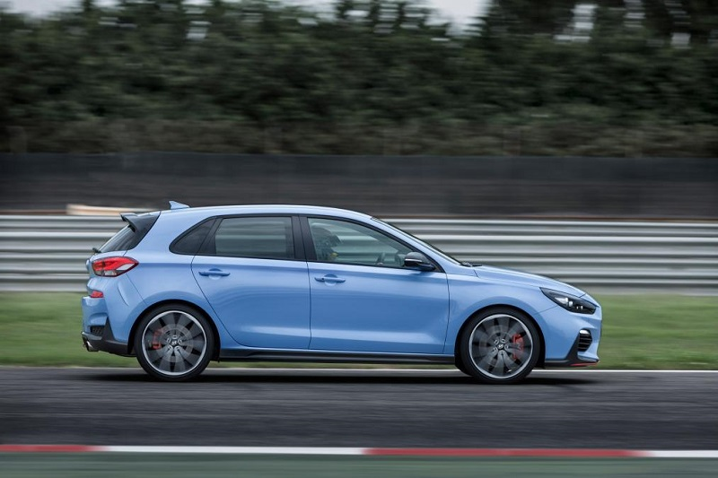 Hyundai i30 N Side moving shot