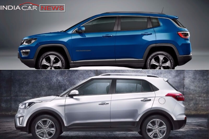 Jeep Compass Vs Hyundai Creta Side