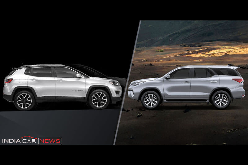 Jeep Compass Vs Toyota Fortuner Features