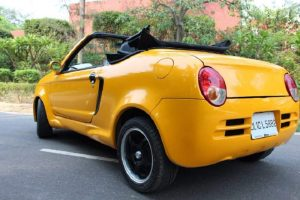 Modified Maruti Suzuki 800 convertible Rear